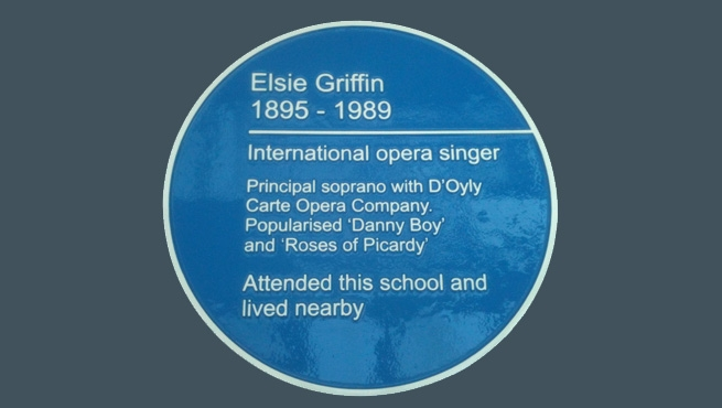 Blue Plaque in Bristol - Elsie Griffin - Opera Singer