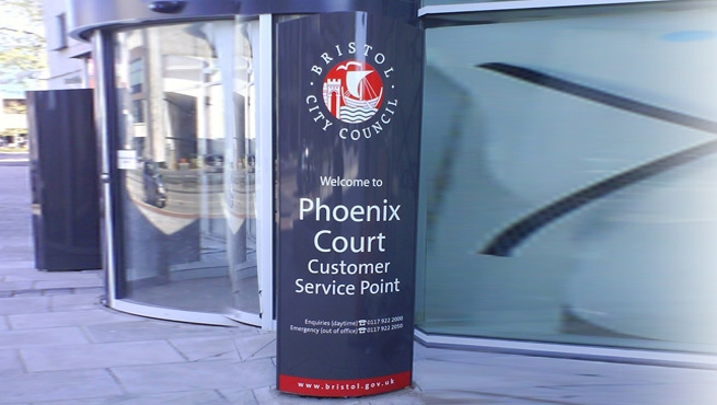 Bristol City Council - Sign for Phoenix Court - Monolith