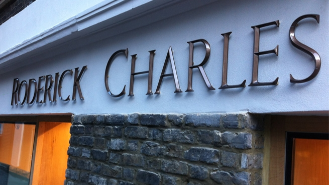 Cast Bronze Solid Letters for Roderick Charles, London