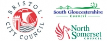 Bristol City Council Logo, South Gloucestershire Council Logo, North Somerset Council Logo