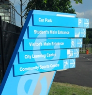 Post Mounted Signs, Coats of Arms & Lettering, Custom Fingerpost Signage