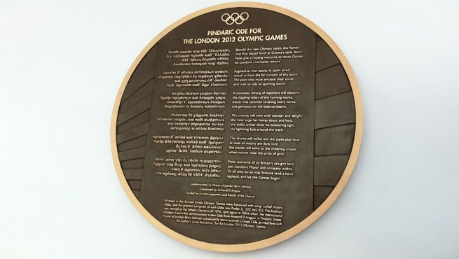 Cast Bronze Plaque made by Wards of Bristol