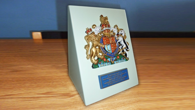 Royal Warrant on Custom Made Stand