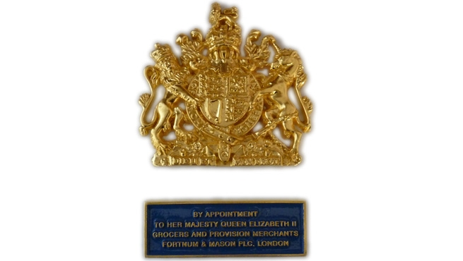 Plaque for Royal Warrant Holders - Fortnum and Mason