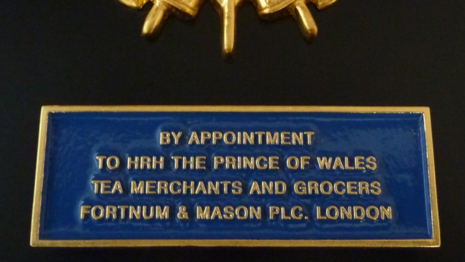 Fortnum and Mason Plaque - Tea Merchants and Grocers