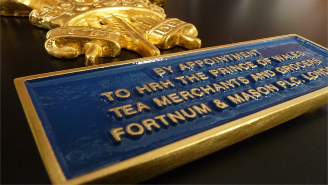 Cast Aluminium Citation Plaque with Gold Gilding