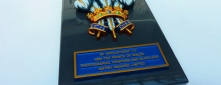 Royal Warrant Coat of Arms for His Royal Highness The Prince of Wales on Aluminium Tray