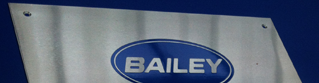 Stainless Steel Plaque for Bailey Caravans, Bristol
