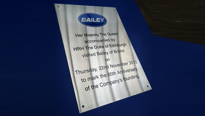 Wards Signs of Bristol Make Plaque for Bailey Motor Homes