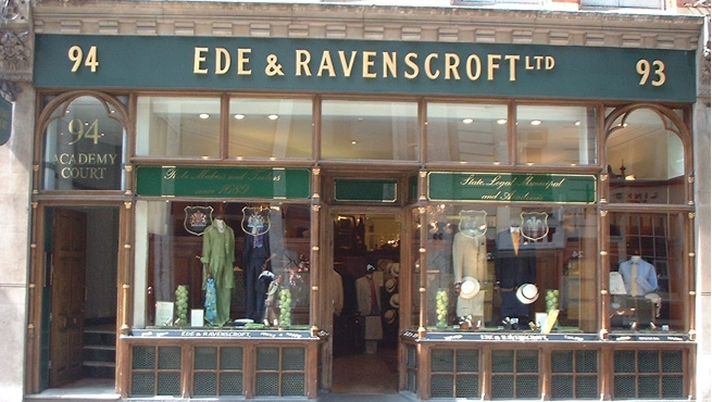 Shop Front Sign for Ede & Ravenscroft ltd - London's Eldest Tailors