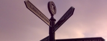 Cast Aluminium Fingerpost Sign made for Bristol City Council