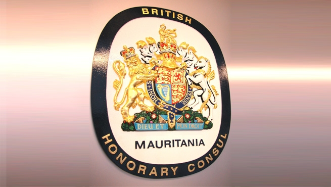 Mauritania - British Honorary Consul Coat of Arms and Plaque