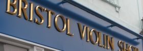 Bristol Violin Shop Sign - Gold Leaf Letters
