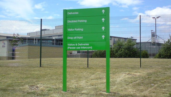 Abbeywood School Post Mounted Wayfinding Directory Signage
