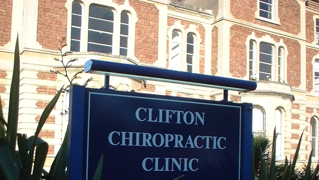 Lamp Lit Post Mounted Sign - Clifton Chiropractic Clinic, Bristol