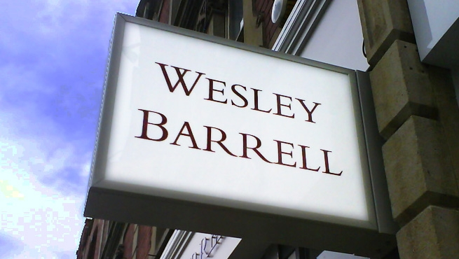 Wesley Barrell Illuminated Projecting Box Sign