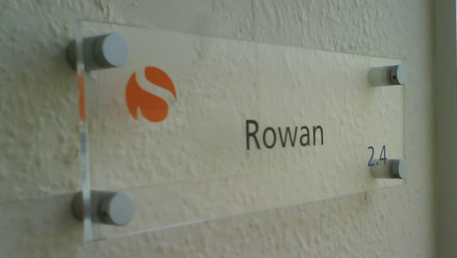 Acrylic Room Name with Stand of Locaters