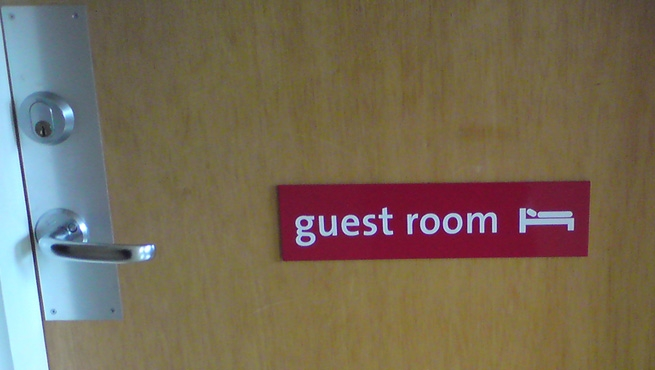Guest Room - Aluminium Door Sign
