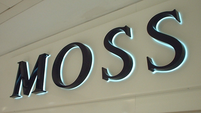 Moss Bros - Built up stainless letters,