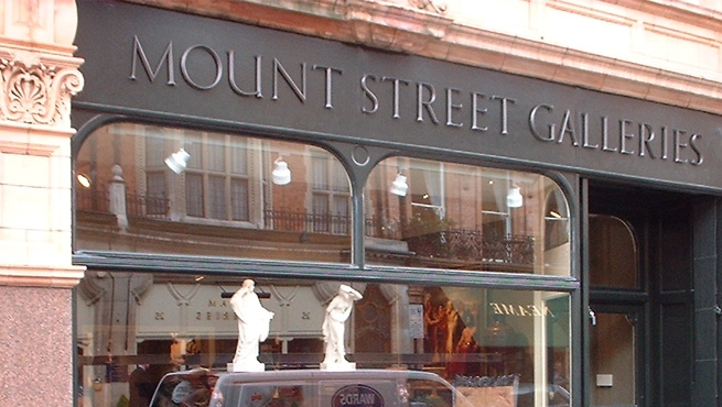 Mount Street Galleries, Traditional Architectural Bronze Lettering