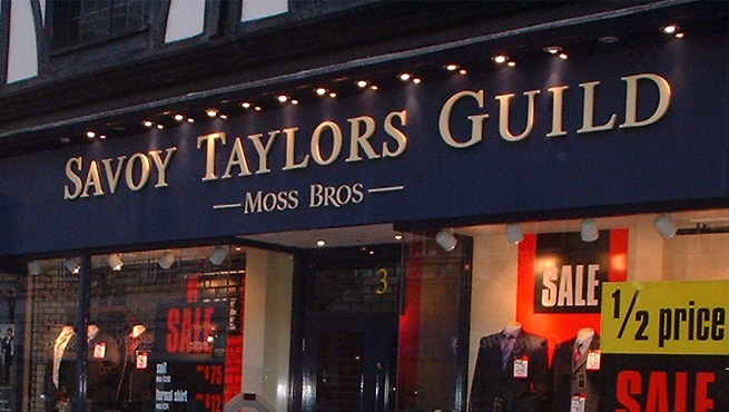 Savoy Taylors Guild Illuminated Resin Letters