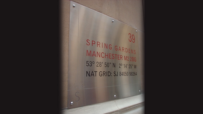 Stainless Steel Plaque Sign made by Wards of Bristol