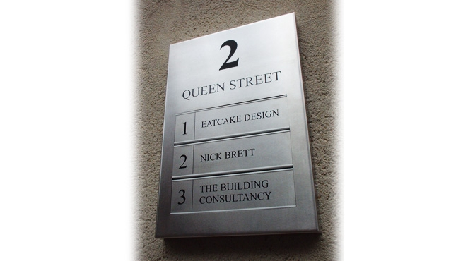 Stainless Steel Plate With Etching to Form Changeable Signage