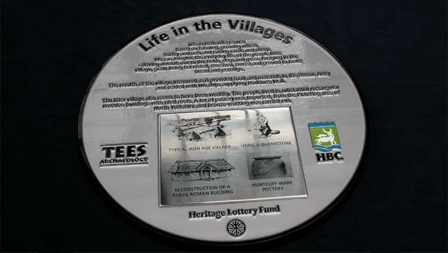 Commemorative Cast Aluminium Plaque with Stainless Steel Plate