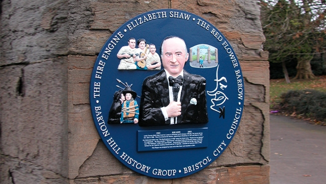 3D Aluminium Plaque - The Fire Engine - Elizabeth Shaw - The Red Flower Barrow - Bristol