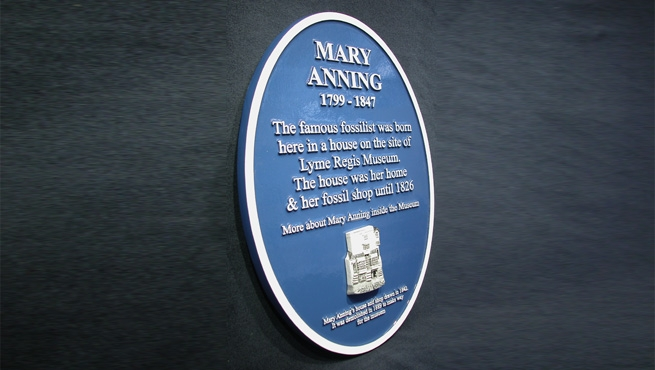 Mary Anning - 3D modelled Blue Heritage Plaque