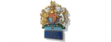 Royal Coat of Arms with Cast Aluminium Citation Plate