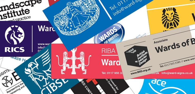 Site Signboards: RIBA, BIID, CIBSE, RICS, ace, LI, NICEIC, IStructE... and more