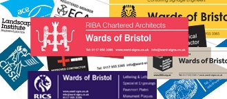 Siteboards for various professional organisations