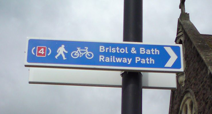 Cycle path and railway path signage for Bristol City Council