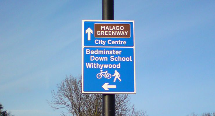 Cycle path signage for Bristol City Council - Malago Greenway Route