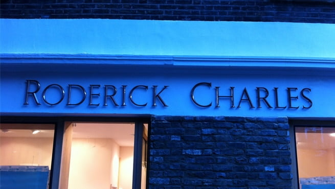 Solid Cast Bronze Lettering - Roderick Charles