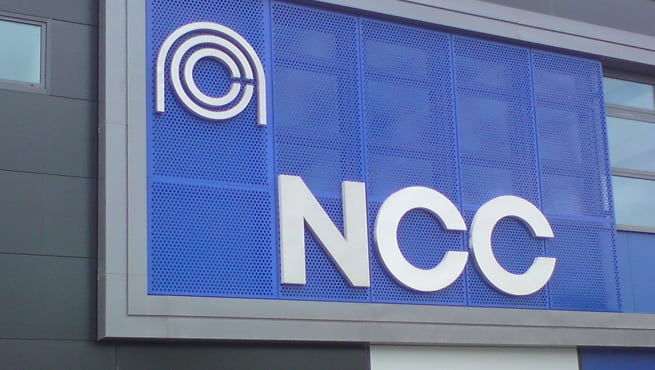 Built Up Metal Lettering and Logo on the National Composites Centre