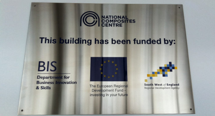 Etched, Infilled & Screen Printed Stainless Steel Plate for the NCC, Bristol