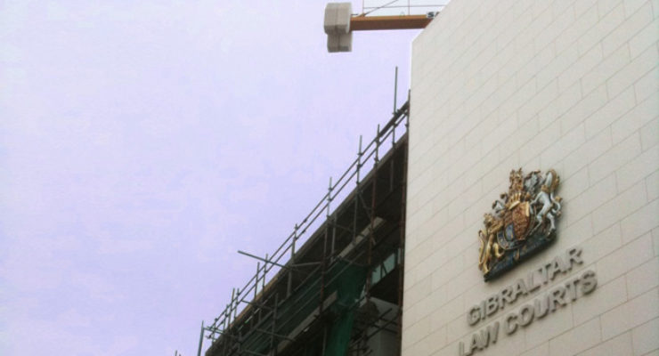 Royal Crest and Lettering on Gibraltar Law Courts