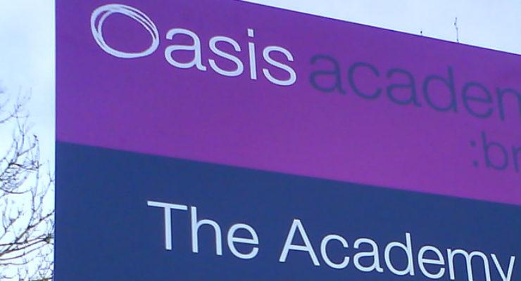 External Wayfinding Signage - Oasis Academy, Brightstowe, Bristol