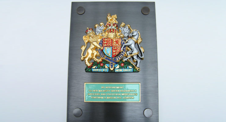 Her Majesty the Queen Royal Warrant on Bronze Plate