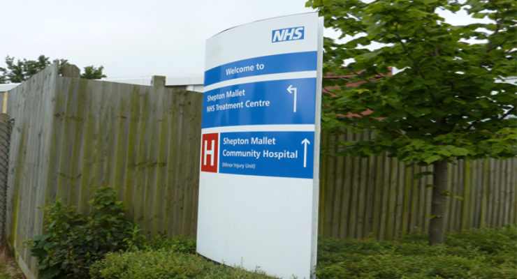 NHS - Hospital Monolith Sign