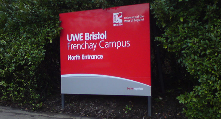 UWE Bristol - Frenchay Campus - North Entrance Sign