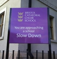 Bristol Cathedral Choir School signage