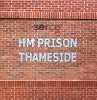 HM Prison Thameside signage
