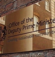 Office of the deputy Prime Minister signage