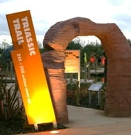 Triassic Trail entrance sign