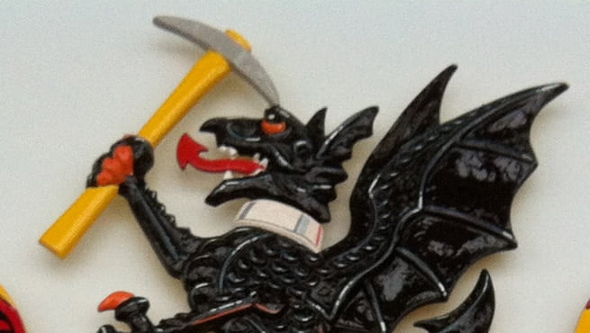 Black Dragon on Coat of Arms for Derbyshire County Council