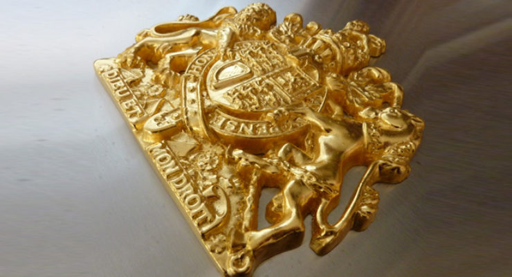 Gold Plated Royal Warrant