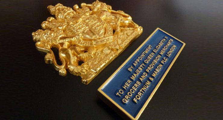 Royal Warrant for Fortnum & Mason